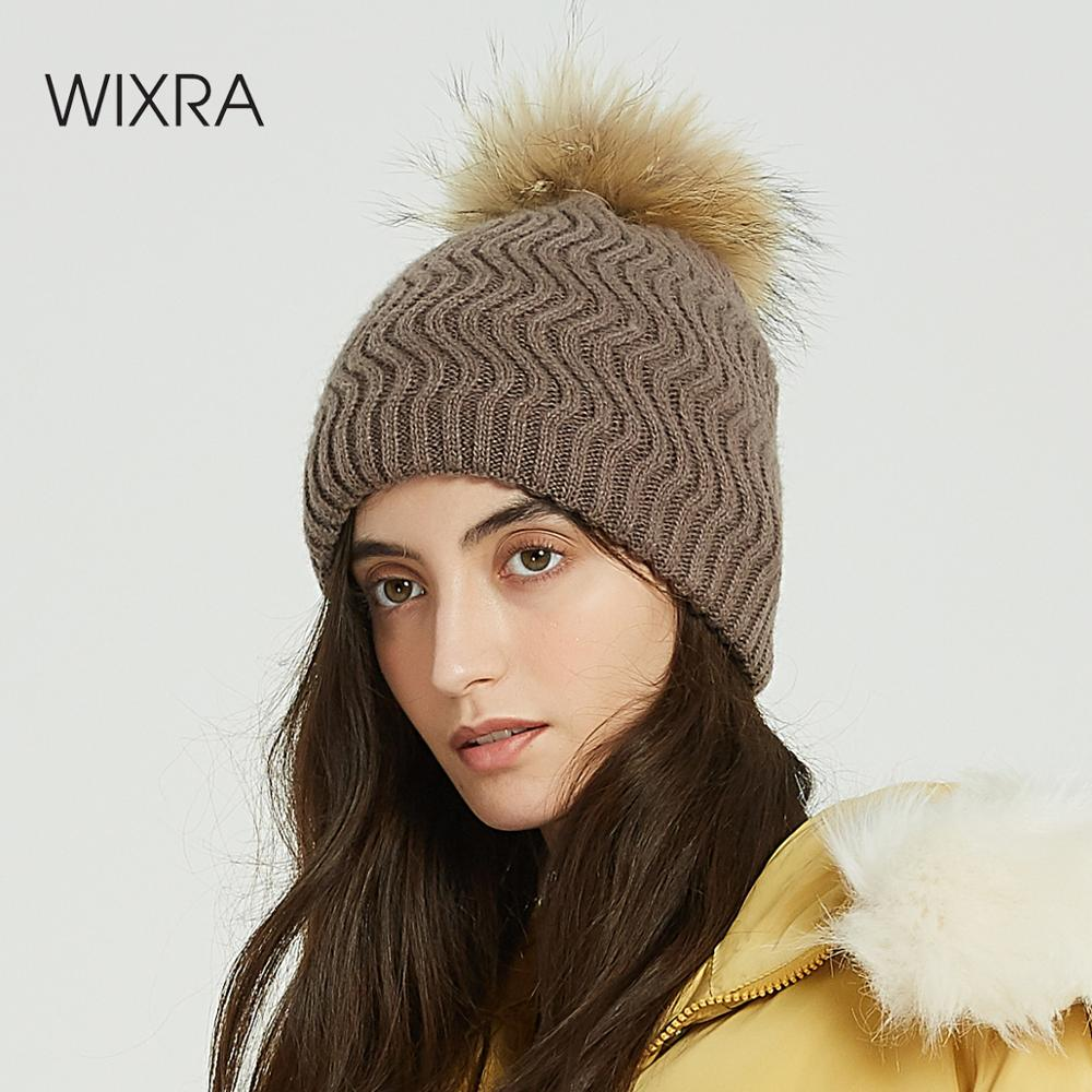 Chic and Classy Cashmere Hat with Genuine Fox Fur Pom