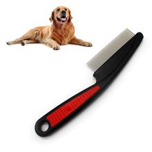 1 sztuk nowy jeden rząd projekt trwałe i praktyczne przezroczyste do włosów zwierzęta pcheł jaja środek do usuwania kurzu pielęgnacja zwierząt domowych jeden rząd grzebień ze stali szczotka tanie tanio CN (pochodzenie) rubber+steel Black+red 15cm 1 x Pet Comb