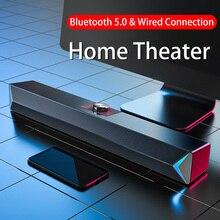 Altoparlanti D6 TV Sound Bar USB cablato e Wireless Bluetooth Home Theater Radio FM Surround SoundBar per PC TV altoparlante per Computer