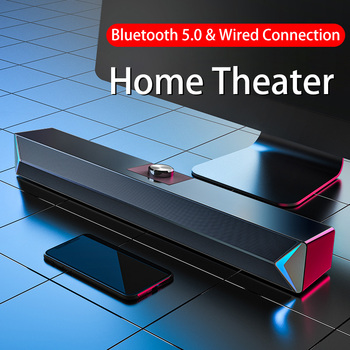 D6 Speakers TV Sound Bar USB Wired and Wireless Bluetooth Home Theater FM Radio Surround SoundBar for PC TV Speaker for Computer kiito y15 wired sound bar speakers computer wired speakers home theater tv sound bar speakers computer