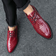 New fashion men's shoes alligator British pointed head men's high heel shoes personalized shoes hairstylist European men's shoes