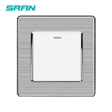 SRAN UK-interrupteur à bascule Standard 1Gang 1way | Interrupteur mural 250V 16A panneau en acier inoxydable 86mm * 86mm blanc/noir/or(China)