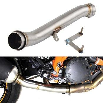 Motorcycle Eliminator Down Pipe Exhaust De-cat Pipe 1290 SUPER DUKE R 2014 2015 2016 Stainless Steel
