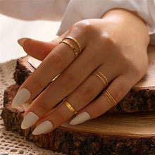 Cor redonda oco geomico como conjunto para as mulheres moda para anel conjunto feminino
