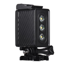 Waterproof 30m LED Diving Light for GoPro Hero 7/6/5s/5/4s/4/3+/3 Diving Light for Xiaomi Yi SJCAM Sports Action Cameras(China)
