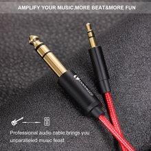 Câble de guitare adaptateur 3.5mm à 6.35mm, câble Aux pour téléphone portable, amplificateur de haut-parleurs d'ordinateur, câble Audio mâle Jack 3.5 à Jack 6.5