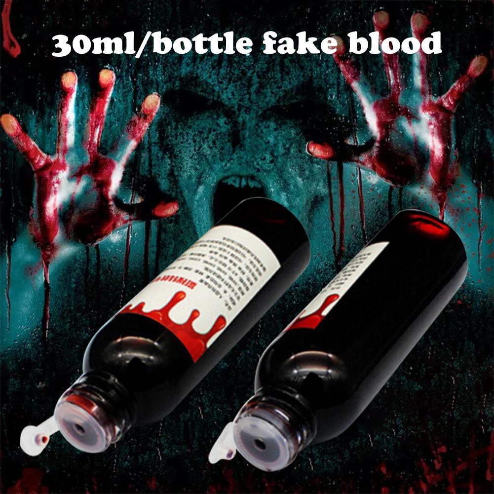 Ультрареалистичная поддельная кровь на Хэллоуин, 30 мл, Cos Имитация человеческого вампира, человеческие зубы, гемопоэтический реквизит, това...
