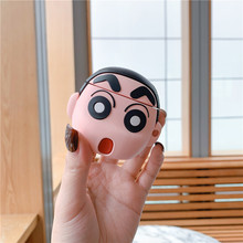 3D Cartoon Cute Crayon Shin-chan Earphone Case For Apple Airpods 1 2 Silicone Protection Cover With Anti-lost KeyChain