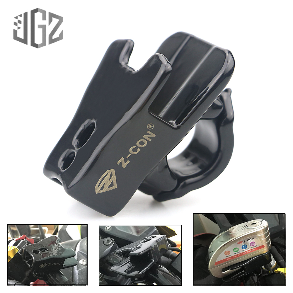 Motorcycle Universal Outdoor Aluminum Disc Brake Lock Frame Fixed Bicycle Security Anti-theft Locks Holder Bracket Protection