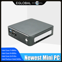 [Intel core I7-8565U I5-8265U quad core] eglobal nuc mini pc i7 windows 10 pro 2 * ddr4 m.2 nvme ac wifi micro computador hdmi2.0 dp
