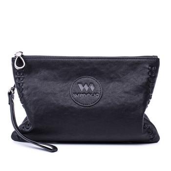 Sheepskin Leather Clutch Bag