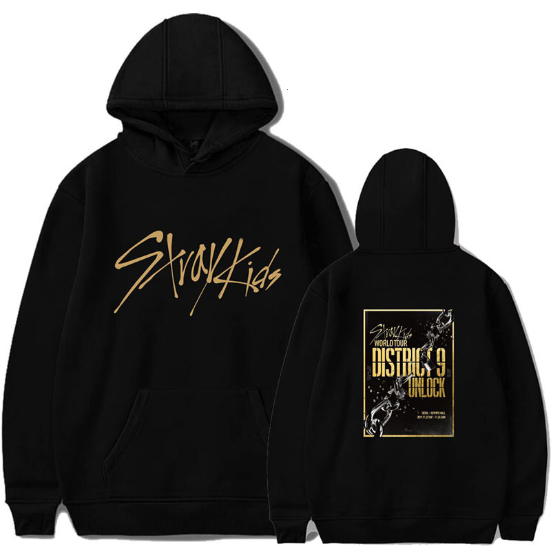 2019 KPOP Stray Kids Hoodies Sweatshirt Casual Oversized Hoodie Plus Size 4XL Merchandise World Tour District 9 Unlock StrayKids