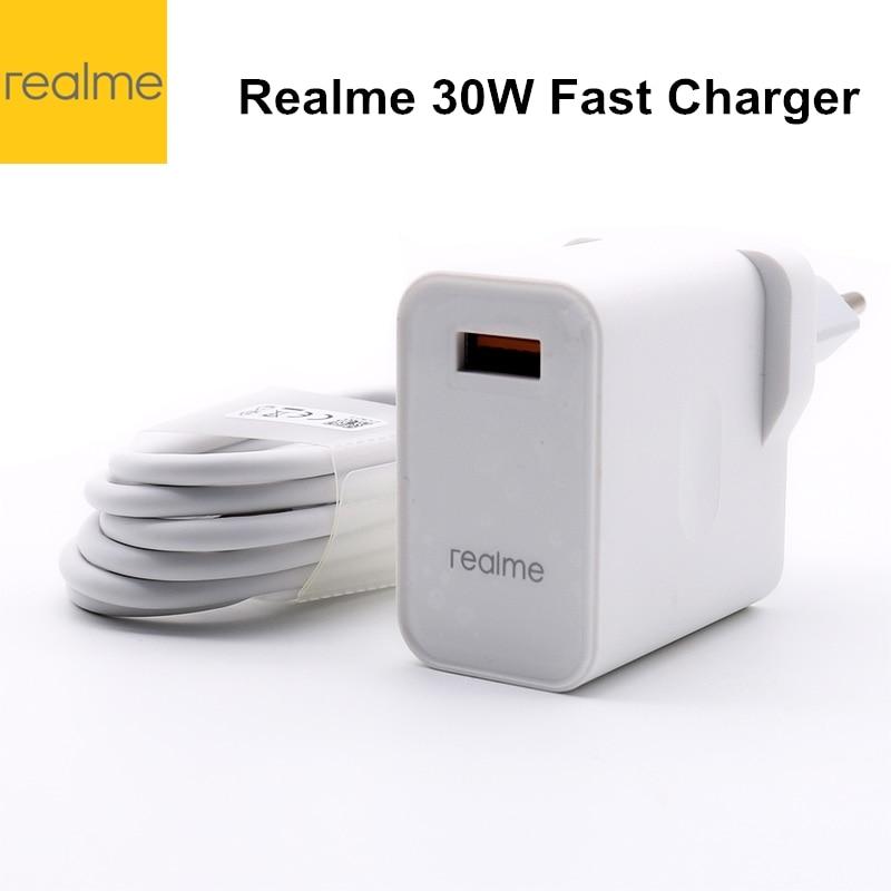Оригинальный realme 6 pro зарядное устройство 30 Вт адаптер питания супер Зарядка 5 в 6A Быстрая зарядка для Realme X50 pro realme X X2 X3