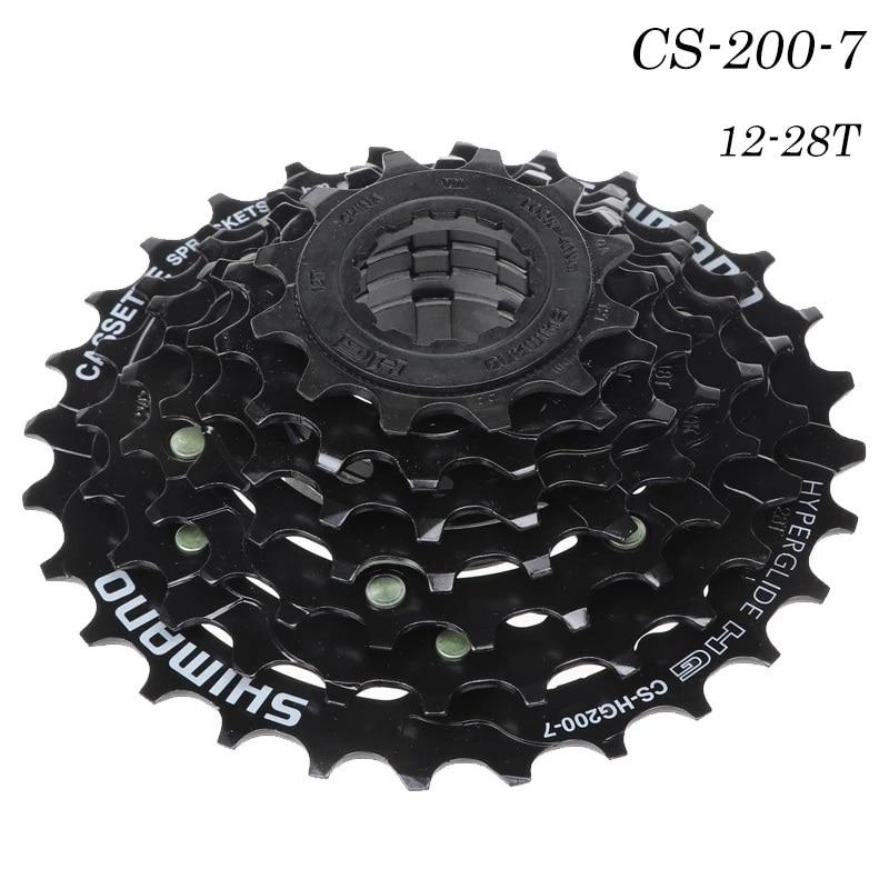 For SHIMAN0 MTB Bicycle Transmission Parts CS-HG200-7 Cassette Bike Freewheel Cassettes 12-28-32T Speed Bike Accessories