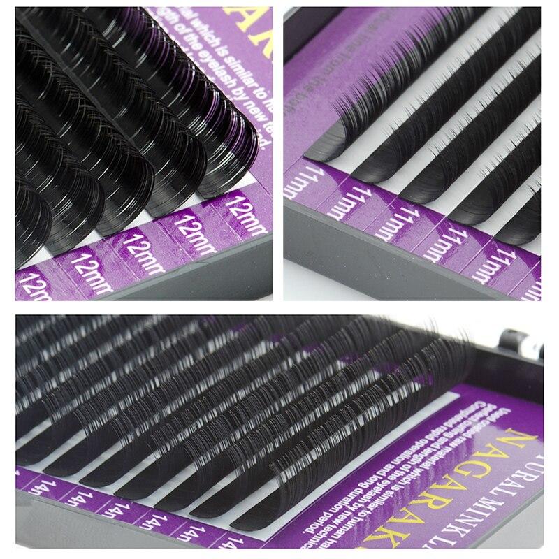 Image 5 - NAGARAKU Individual Eyelash 5 cases set 16rows 0.05mm Synthetic Mink Eyelash Extension Fake Eyelash Extension Soft Naturalmink eyelash extensionseyelash extensionmink eyelashes -