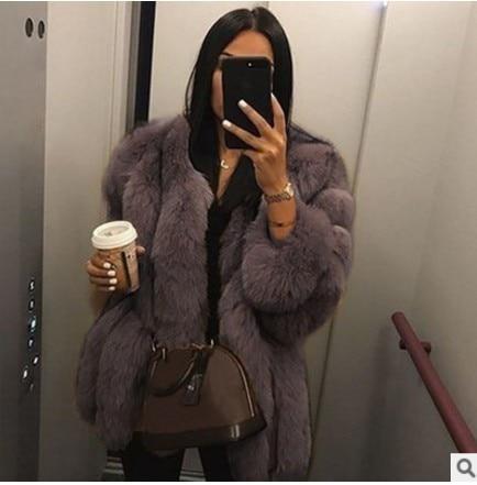 Elegant Fluffy Faux Fur Coat Women Short Furry Fake Fur Winter Outerwear Pink Grey Coat Autumn Casual Party Overcoat