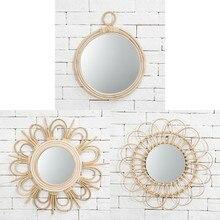 Rotin Art innovant chez l'habitant décoration maquillage miroir Dressing salle de bain mur