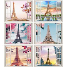 5D DIY Diamond Painting Scenic Full Drill Round Tower Rhinestone Picture Embroidery Diamond Mosaic Decor Gift цена