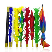 Feather Sticks Magic Tricks Feather To Umbrella Bouquet Flag Magician Stage Gimmick Props Educational Toy Gift For Kids Adults