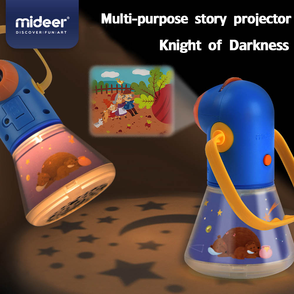 Portable Children's Multi-function Storytelling Projector With Starlight Baby Sleep Toy Night Illumination