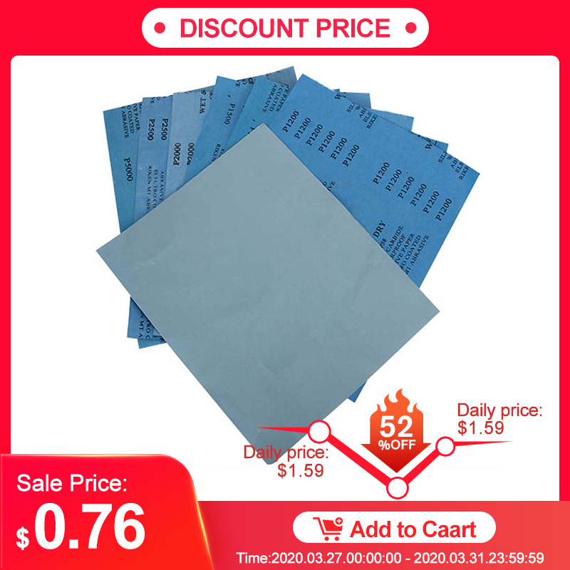 Sanding Wet/dry Waterproof Abrasive Sandpaper Paper Grit 1000/1500/2000/3000/5000/7000 280x230mm Abrasive Tool