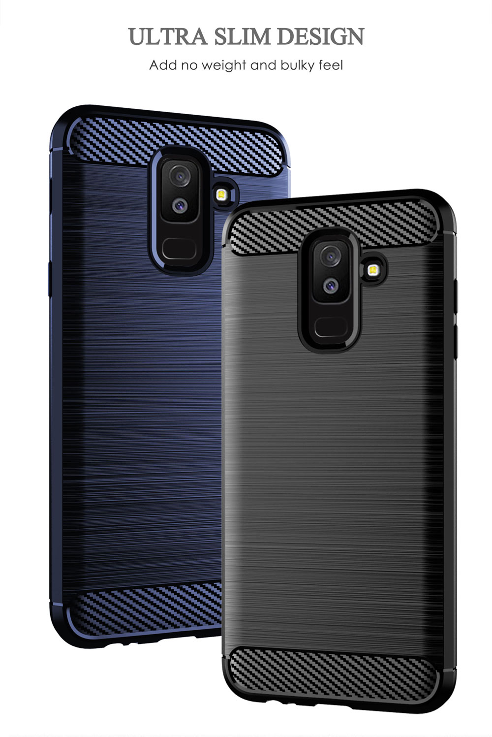 Image 4 - Carbon Soft Silicone Phone Case For Samsung Galaxy A6 Plus A6S 2018 Cover Bumper GalaxyA6 A6plus A62018 A6s2018 SM A600F A605F-in Half-wrapped Cases from Cellphones & Telecommunications