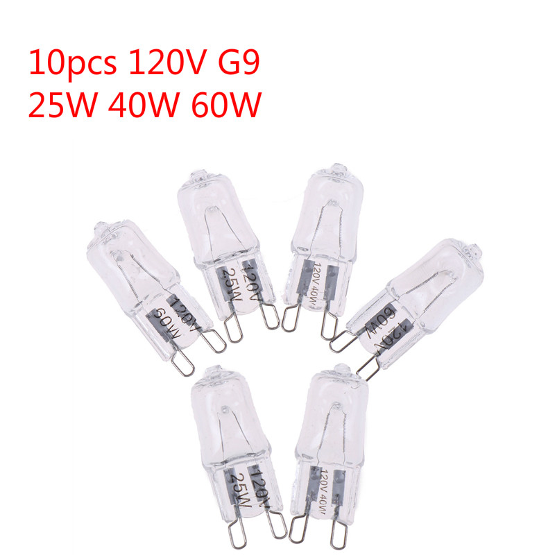 10PCS 120V 25W 40W 60W Oven Light Bulb G9 High Temperature Bulb Steamer Light G9 Oven Lighting Bulb
