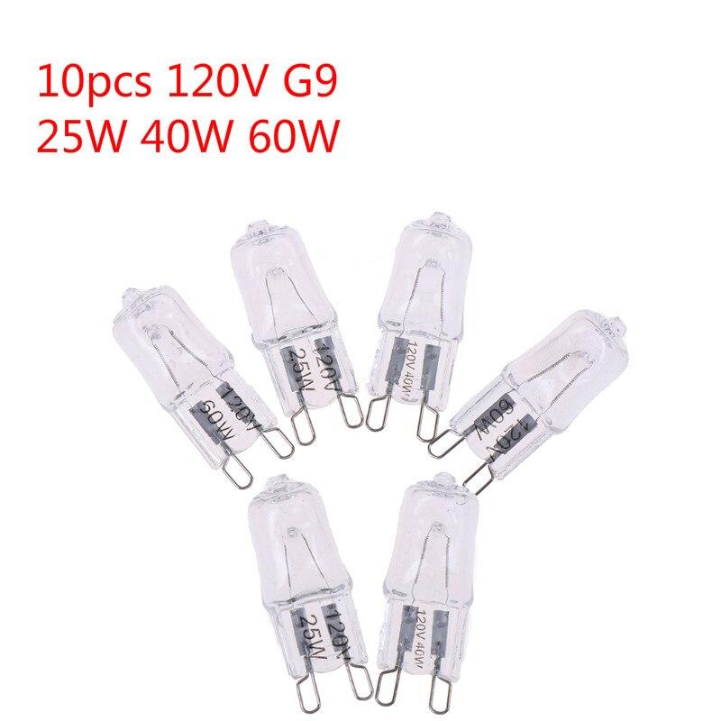 10PCS 120V 25W 40W 60W Oven Light Bulb G9 High Temperature Bulb Steamer Light G9 Oven Lighting Bulb