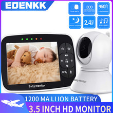 Baby monitor with remote pan tilt zoom camera|3.5 inch large screen, night vision, call, room temperature, lullaby, 900 feet ran()