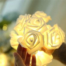 YINUO LIGHT 2.5M 20 Roses Flower LED String Lights Garland Holiday for Valentines Day Christmas Home Wedding Decoration