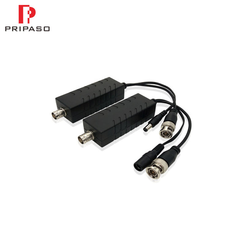 1 Pair Single Channel HD Power & Video Transceiver Over Coaxial Cable For HD CVI TVI AHD CVBS Camera And DVR 450M Transmitter