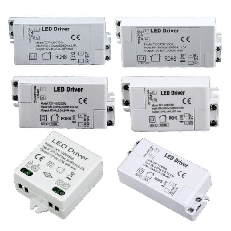 12V 60 Вт 36 Вт, 24 Вт, 12 Вт, 6 Вт, 110V-220V LED трансформаторы высокого качества Безопасный драйвер для светодиодный полосы 3528 5050 источника питания