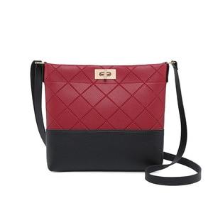 Image 1 - 2020 Diamond Lattice Plaid Bag Mini Hasp Handbag Cross body Bags For Women Ladies Purse High Quality Designer Small Bags Fashion