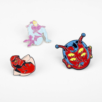 Enamel Lapel Pin Movie Masters Of The Universe Metal Brooch Hellboy Figure Backpack Bags Badge Brooches For Friends image