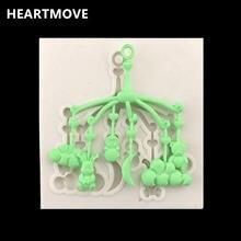 Heartmove Новый 1 шт Детские коляски кулон Форма силиконовая