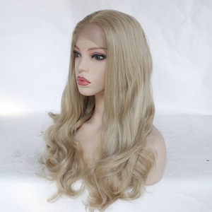 Image 5 - Freeshipping  African Americans Black Women Long Body Wavy Cheap Synthetic Lace Front Wig with Combs &Straps Free Part