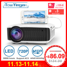 TouYinger T4 mini proyector LED 1280x720 proyector portátil Home Cinema (pantalla de sincronización por cable opcional para Iphone Ipad Phone Tablet)(China)