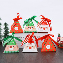1Pcs Cartoon Christmas Gift Box   Party Gift Box Christmas Apple Box Candy Fruit Box Kids Birthday Party Gift Packaging Bags