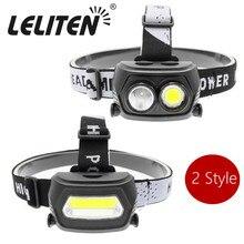 AC/Wiederaufladbare COB LED Scheinwerfer Outdoor scheinwerfer camping taschenlampe Scheinwerfer wandern Taschenlampe + AC/Ladegerät + Gebaut in batterie
