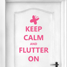 Keep Calm And Flutter On Quotes Wall Sticker Vinyl Home Decoration Gils Room Bedroom Door Decals Butterfly Decor Murals 3B04 keep calm and dream on quote wall stickers vinyl home decor living room bedroom door decals removable art mural wallpaper 3b05