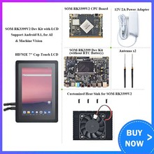 SOM-RK3399V2 core board Dev Kit mit HDMI eingang MIPI fernglas gesicht anerkennung 4G interface dual-band WiFi
