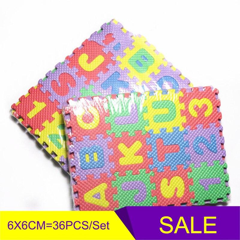 36 PCS Detachable Letter Board Literacy Cards Children's Cartoon Alphanumeric Crawling Puzzle Floor Mat Enlightenment Stationery