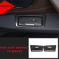Molding Trim Rear Seat Ashtray For Bmw Carbon Fiber 2016 2019 4pcs X1 F48|Chromium Styling| |  -