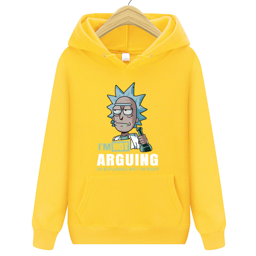 Brand Warm Pullover Streetwear Rickmorty Autumn casual mens Sweatshirt Groot printed men Hoodies Mens loose Funny Hoodie
