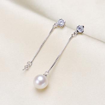 Ładne jakości kolczyki z pereł piękne kolczyki kolczyki ustawienia biżuteria kolczyki akcesoria tanie i dobre opinie earrings mountings jewelry findings Ocena biżuteria Metal SILVER