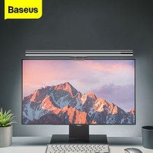 Baseus led lâmpada de mesa pode ser escurecido escritório computador olho-cuidado lâmpada de mesa para estudo monitor de tela de leitura pendurado barra de luz