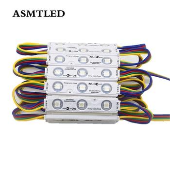 20Pcs/Lot 5050 RGB LED Modules Waterproof IP65 Led Module light DC 12V 3Leds/Pcs Sign Led Backlights For Banner Channel Letters