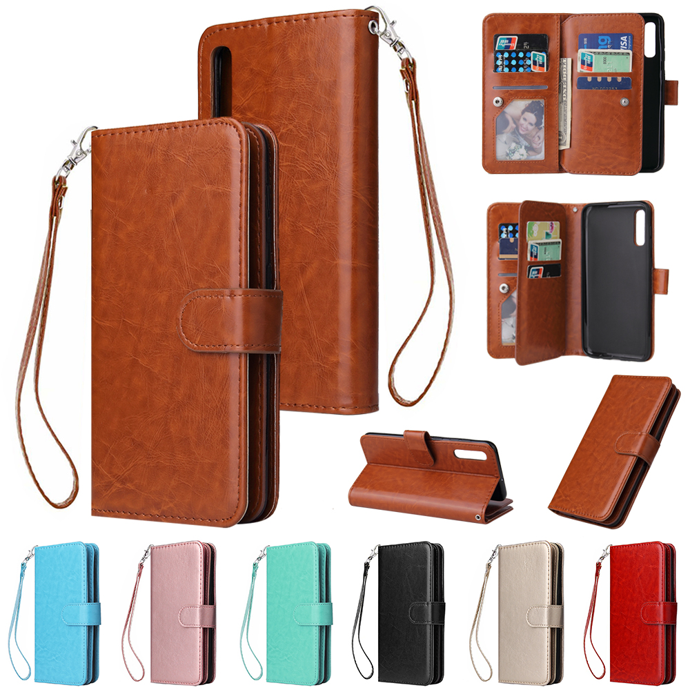 For Samsung Galaxy A3 A5 A7 A6 Plus A8 A9 A10 A20 A30 A40 A50 A70 Wallet Card Leather Luxury Case Flip Cover Phone Bag