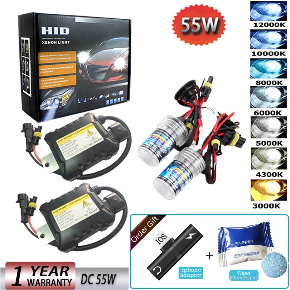 D2C D2R 9005 H9 9004 H4-3 LiNKFOR 2PCS Digital 35W Slim HID Xenon Ballast Light Conversion Kit Universal for H7 D2S H11 9006