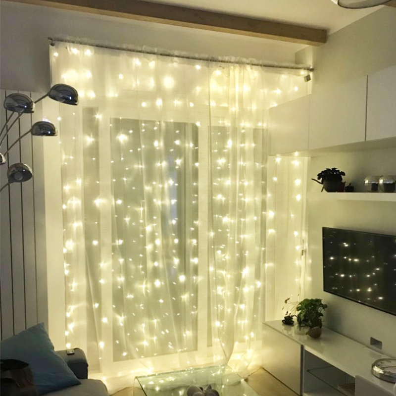 2X2/3X1/3x3/6x3 LED Icicle String Lights Christmas Fairy Lights Garland Outdoor LED For Wedding Party Curtain Window Eaves Decor